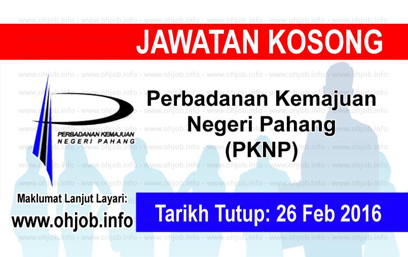 Jawatan Kerja Kosong Perbadanan Kemajuan Negeri Pahang (PKNP) logo www.ohjob.info februari 2016