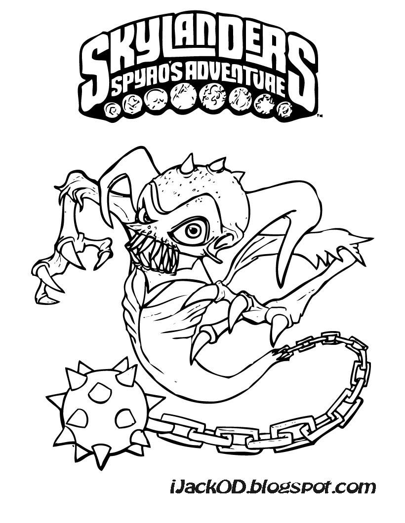 Skylanders Giants Tech Series2 Trigger Happy Coloring Page | H & M ... | 1060x820