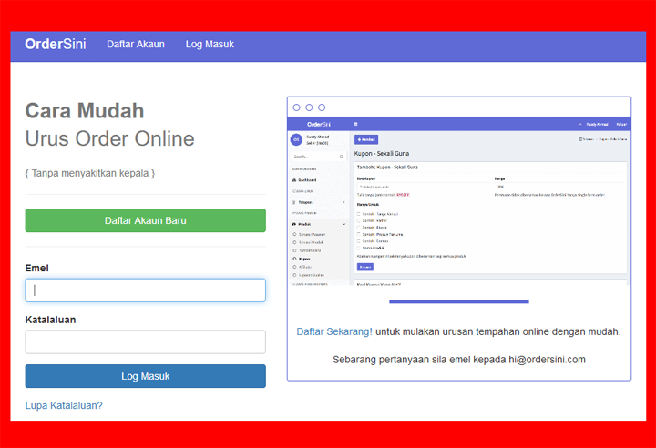 OrderSini - Platform Mudah Ambil Order Bisnes Online