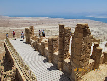 Remains of Northern Palace of Herod, Masada, overlooking the Dead Sea (Israel)