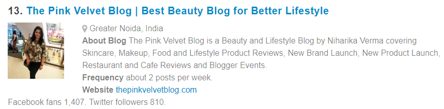 Featured Niharika Verma The Pink Velvet Blog - FeedSpot