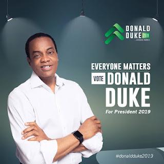 Presidential Aspirant Donald Duke