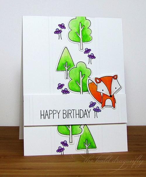 Forest Friends stamp set and Die-namics and Birdie Brown Adorable Elephants stamp set - Karen Baker #mftstamps