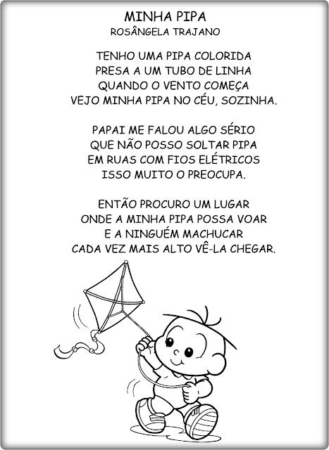 Textos Curtos para Leitura - Turma da Mônica