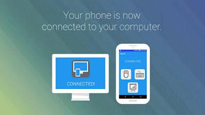 مشاركة شاشة الهاتف مع الحاسوب