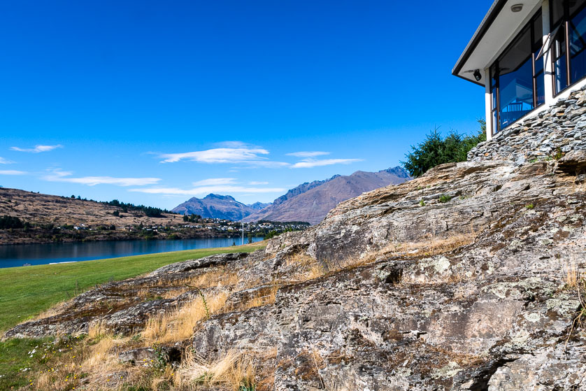 Looking over Lake Wakatipu from a Queenstown hotel.