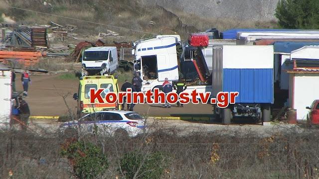 Τραγωδία στην Κορινθία: Νεκρός από ηλεκτροπληξία οδηγός νταλίκας από την Αργολίδα