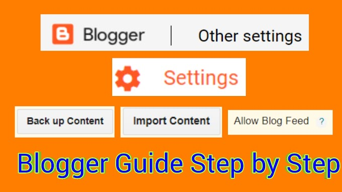blogger other settings-Blogger Guide Step by Step