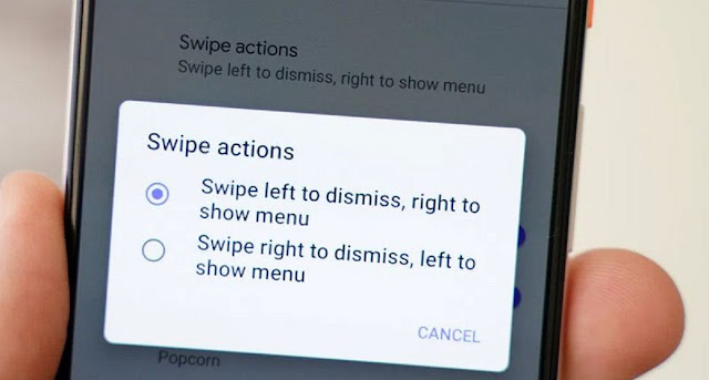 How to swipe notifications