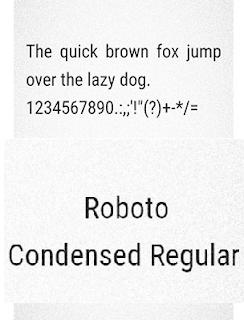 Roboto Consended Reguler Fonts itz Untuk Vivo