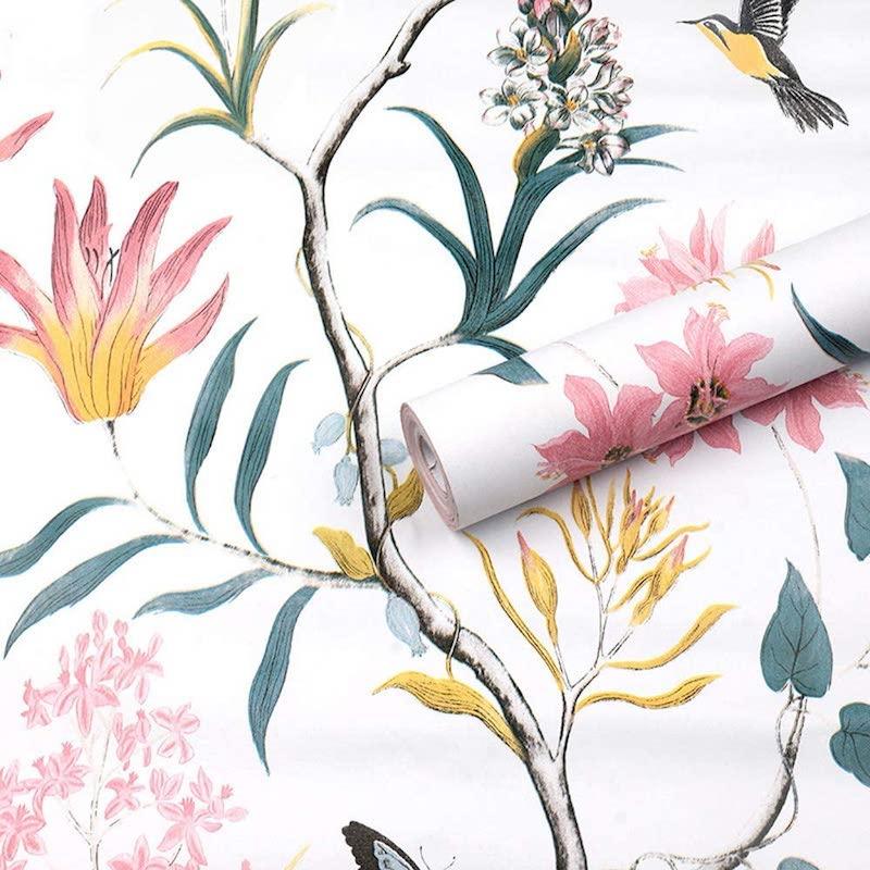 Papel pintado motivos vegetales