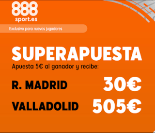 888sport superapuesta liga Real Madrid vs Valladolid 24 agosto 2019