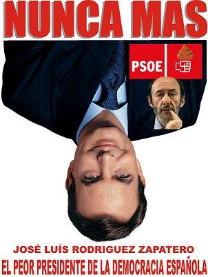 Cartel sobre el hundimiento del PSOE