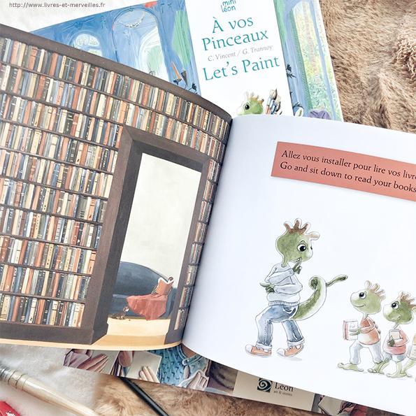 Les 3 nouveaux mini Léon, des petits albums sur l'art façon strip de BD