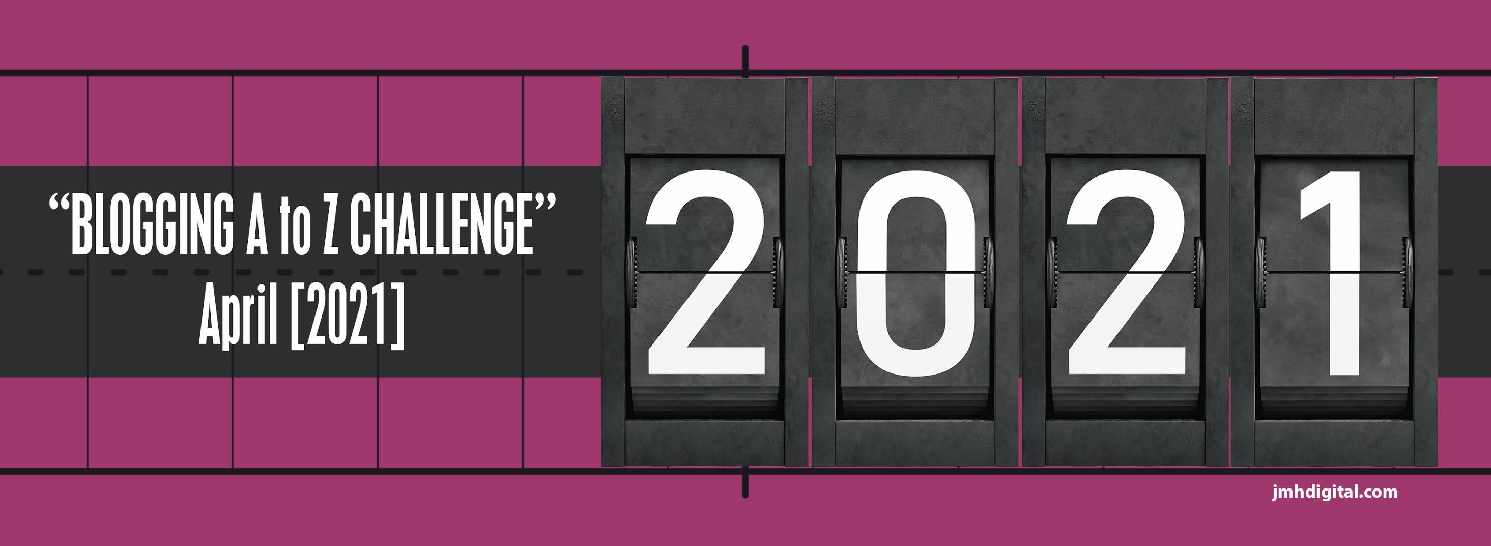 #AtoZChallenge 2021 banner