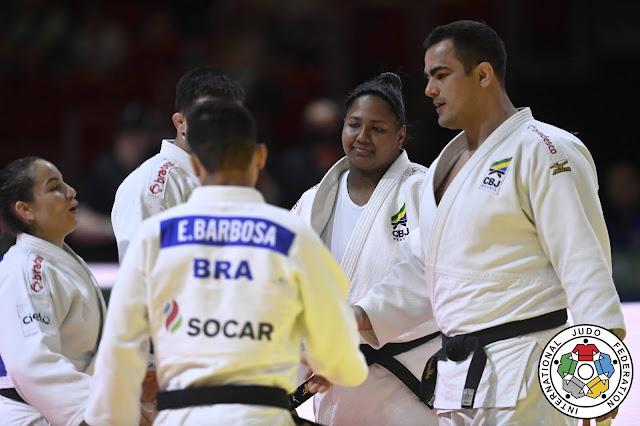 Brasil conquistou o bronze no Mundial de judô por equipes mistas