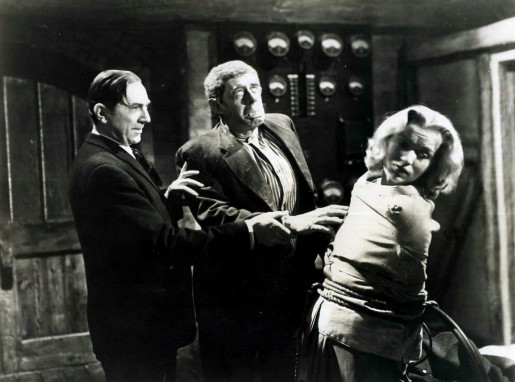 Bela Lugosi, Wilfred Walter and Greta Gynt in The Human Monster (1939)