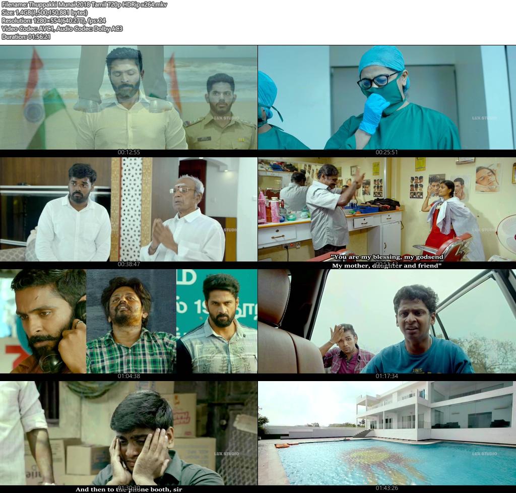 Thuppakki Munai 2018 Tamil 720p HDRip x264 | 480p 300MB | 100MB HEVC Screenshot