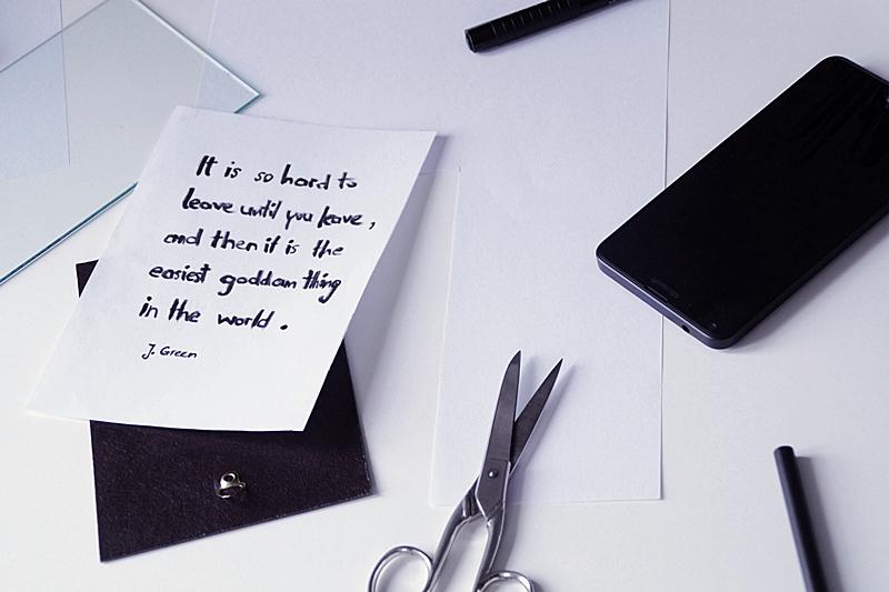 DIY Idee: Zitat/ Spruch im Rahmen als Geschenk