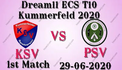 Who will win KSV vs PSV 1st T10 Match
