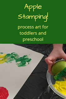 Apple Stamping: Process Art for Preschool