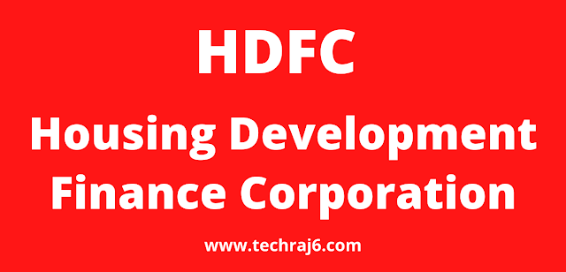 HDFC full form, What is the full form of HDFC
