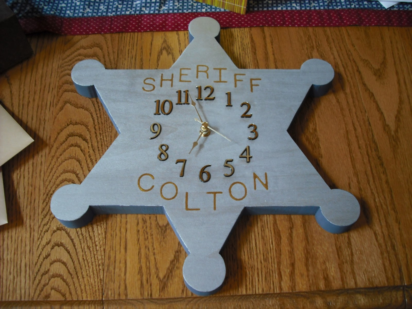 Final Product Sheriff S Badge Clock Craft Ideas