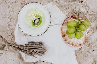 quark dessert with pistachios
