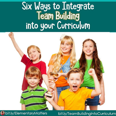 Six Ways to Integrate Team Building into Your Curriculum: this post lists 6 different Team Building Activities and ideas on fitting curriculum ideas into these games This post includes a freebie for one of my favorite games:  Countdown!