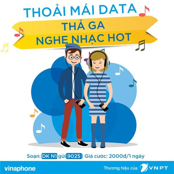 Nghe Nhaccuatui thoải mái với gói cước NCT 3G Vinaphone