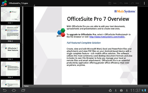 OfficeSuite Pro 7 + (PDF & HD) for Android