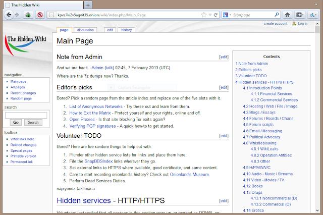 Deep Web: Hidden Wiki