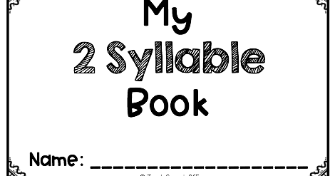Speechie Freebies: No Prep Multisyllabic Word Book