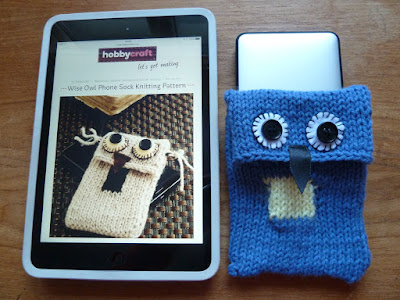knitted portable hard drive cover pattern