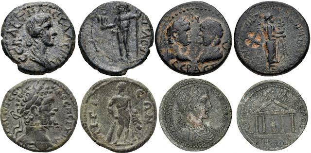 Bronces acuñados en Aigai en época imperial romana.