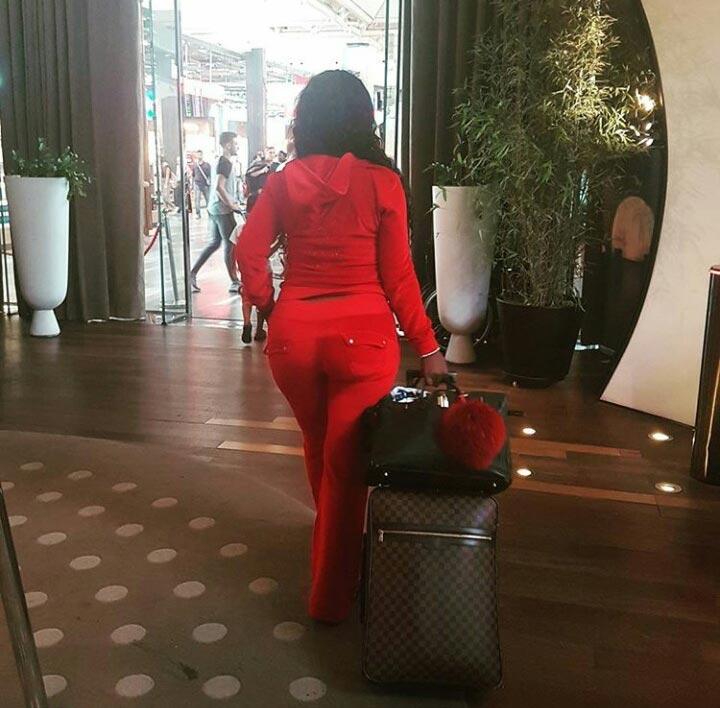 Daniella Okeke flies first class as actress jets out of Greece