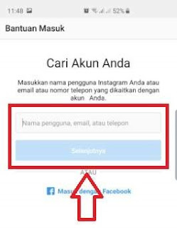 mengatasi akun instagram gagal login