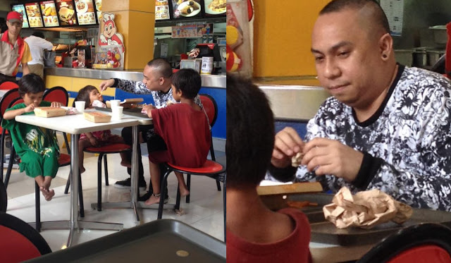 A Man Was Photographed Feeding A Group Of Street Children! The Story Behind This Will Melt Your Heart!