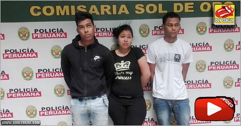 Tres venezolanos capturados en Perú portando armas de guerra