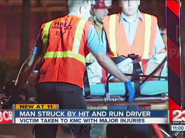 kern county union avenue car accident pedestrian hit and run bakersfied