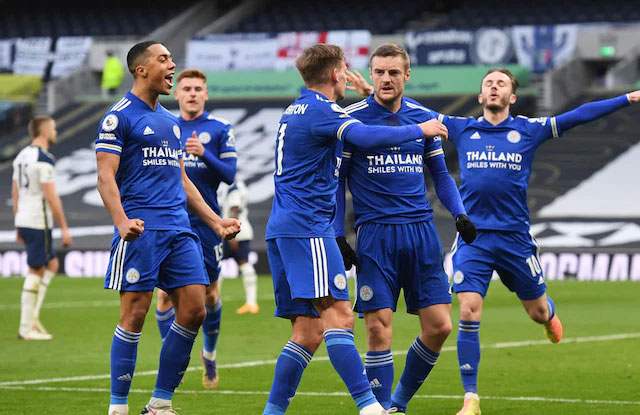 Selebrasi Gol Leicester City