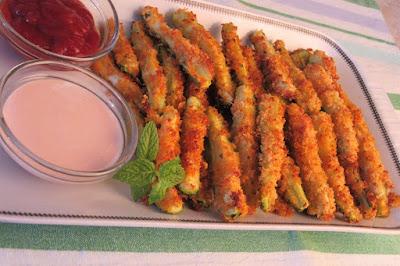 Hrskave tikvice iz pećnice / Crispy zucchini oven fried PANKO
