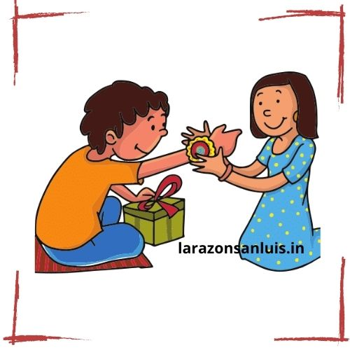 Raksha Bandhan Brother Sister Drawing