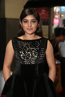 Niveda Thomas Black Sleeveless Cute Dress at 64th Jio Filmfare Awards South 2017 ~  Exclusive 062.JPG