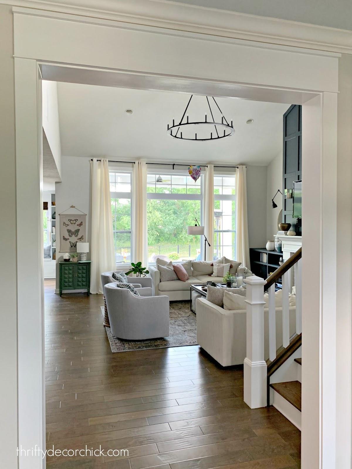 Thick Craftsman trim over doorway