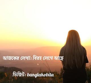 বাংলা কবিতা-বিরহ লেগে আছে
