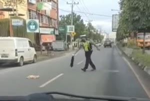 Viral Angkat-Kubur Kucing Mati dari Jalanan, Polantas di Sumut Dipuji Kapolda
