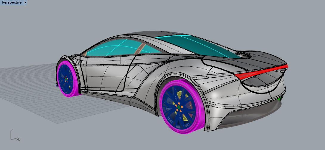 Car design no.82-概念車建模concept car modeling