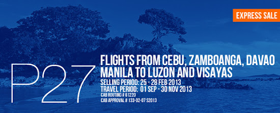 27 pesos promo of AirPhil Express