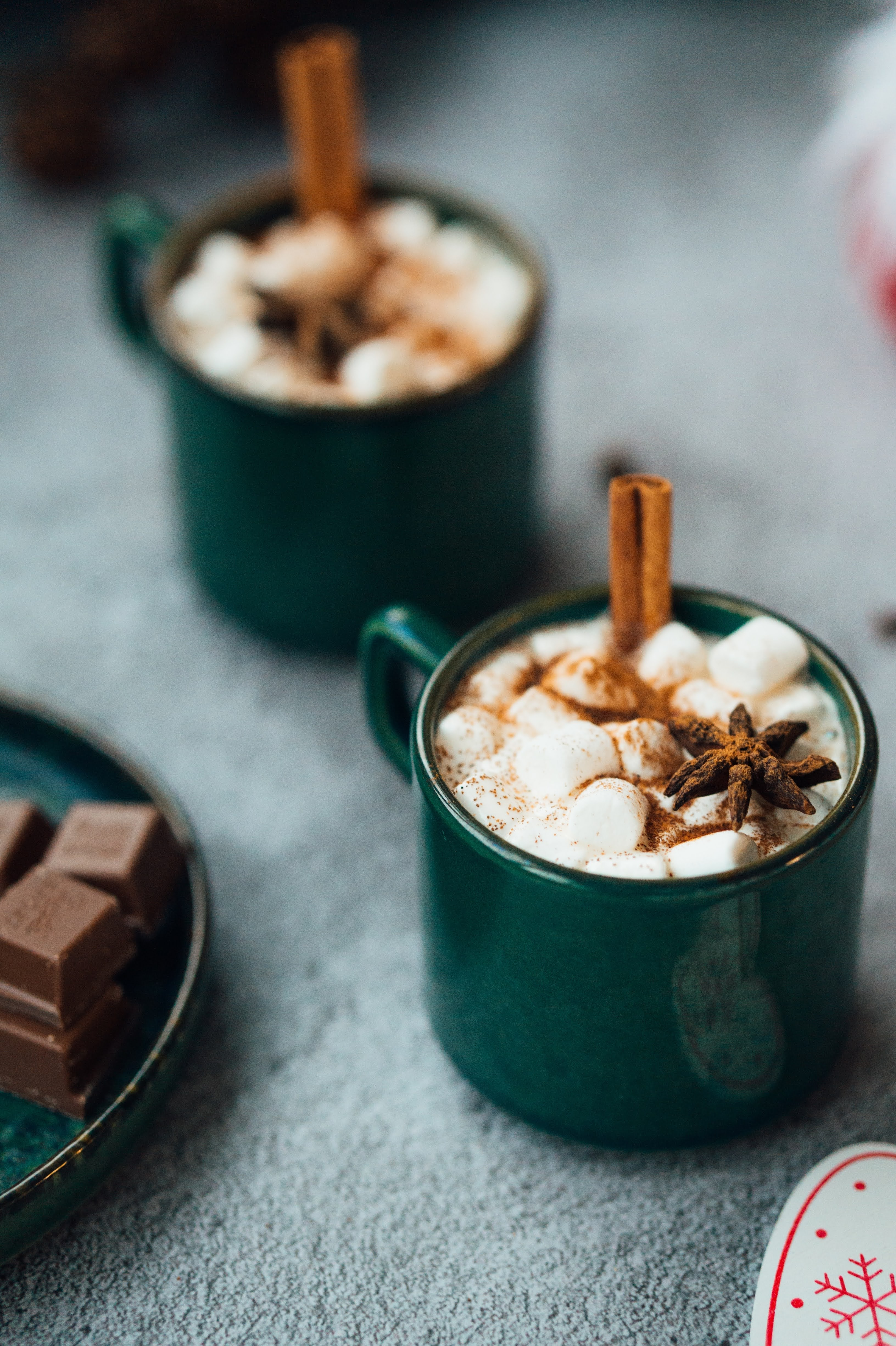 Mugs of Hot Chocolate | Photo by Hanna Balan via Unsplash